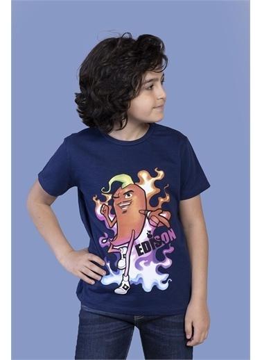 Toontoy Kids Toontoy Erkek Çocuk Acı Biber Baskılı Tişört Lacivert